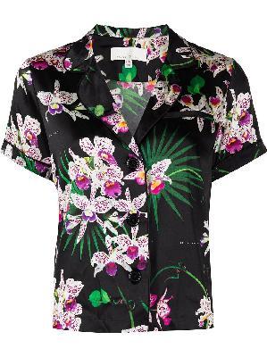 Fleur Du Mal floral-print pyjama top