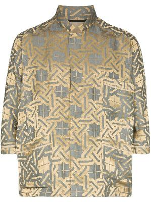 Haider Ackermann pyjama style Amiral shirt