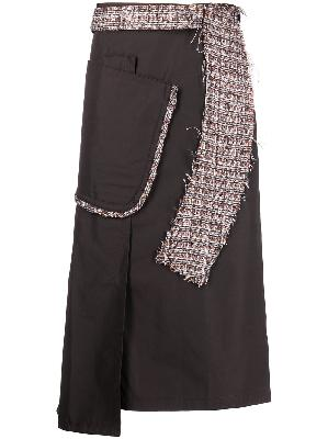 Kiko Kostadinov Moylita tweed-detail skirt
