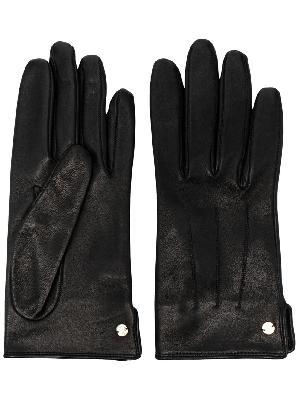 LANVIN logo plaque gloves
