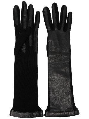 LANVIN wool elbow-length gloves