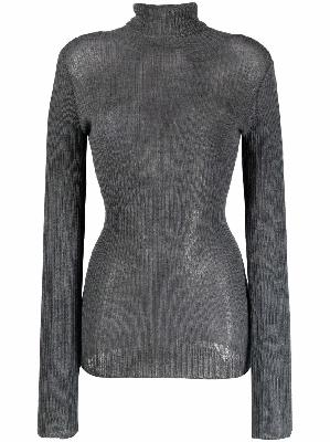 Maison Margiela ribbed-knit roll-neck top