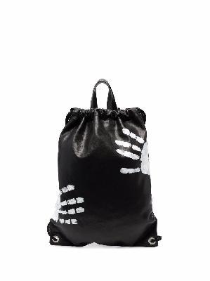 Maison Margiela hand-print drawstring backpack
