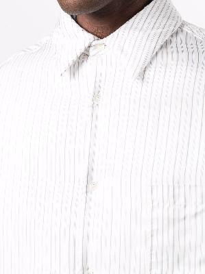 Maison Margiela oversized striped shirt jacket