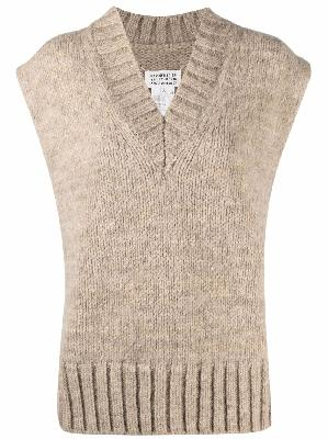Maison Margiela chunky-knit poncho jumper