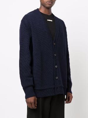 Maison Margiela M logo-stitch knitted V-neck cardigan