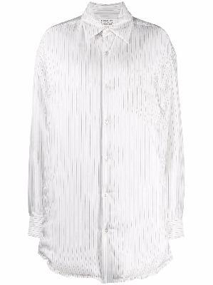Maison Margiela striped button-up shirt