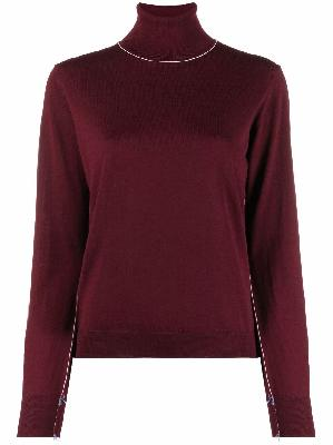 Maison Margiela contrast-stitching wool jumper