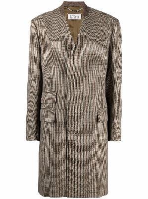 Maison Margiela checked mid-length coat