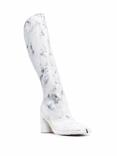 Maison Margiela Tabi 10mm painted boots