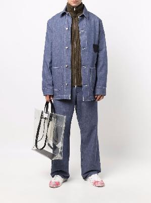 Maison Margiela ribbed-knit zip-front cardigan