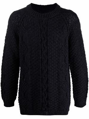Maison Margiela long-sleeve cable-knit jumper