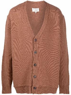 Maison Margiela four-stitch wool cardigan