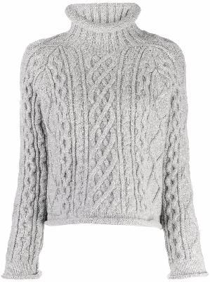 Maison Margiela cable-knit cropped jumper