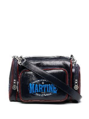 Martine Rose logo-print leather shoulder bag