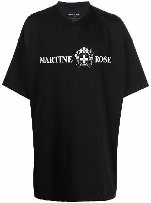 Martine Rose oversized logo slogan-print T-shirt