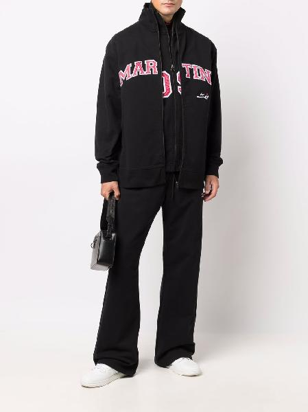 Martine Rose logo print layered track jacket