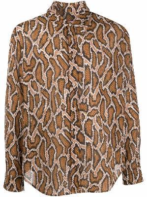 Martine Rose python-print long-sleeve shirt