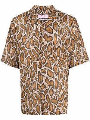 Martine Rose python-print short-sleeve shirt