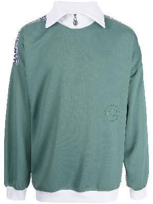 Martine Rose collared zip sweatshirt