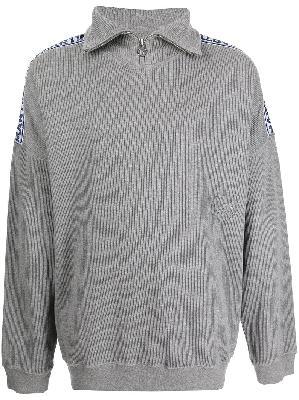 Martine Rose ribbed half-zip sweatshirt