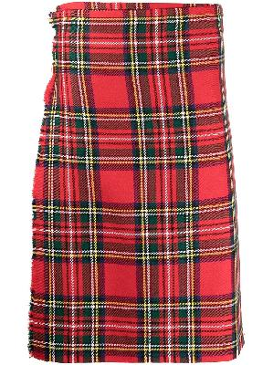 Molly Goddard checked pleated wool skirt