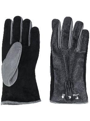 Off-White logo-print gloves