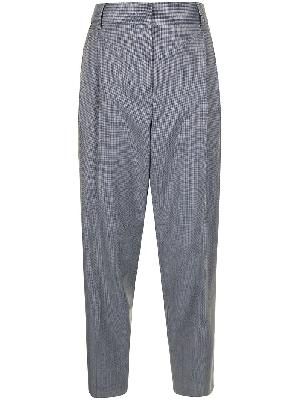 PAUL SMITH check-pattern wool trouser suit