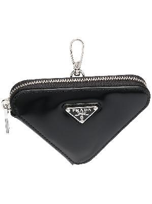 Prada triangle-shaped mini pouch