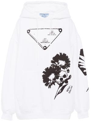 Prada graphic-print drawstring hoodie