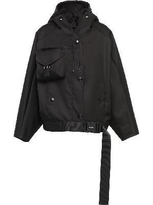 Prada re-nylon gabardine hooded jacket