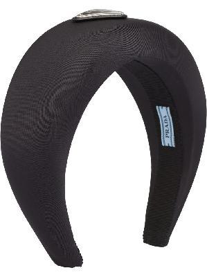 Prada triangle logo nylon headband