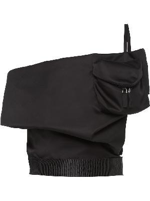 Prada off-shoulder belted top