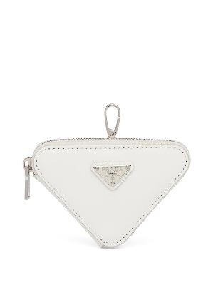 Prada brushed-leather triangle minipouch