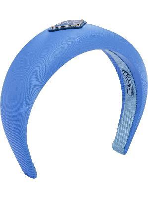 Prada logo-plaque padded headband
