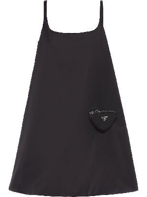 Prada logo-plaque sleeveless dress