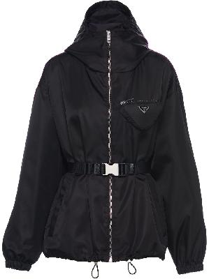 Prada logo-plaque buckle-fastening jacket