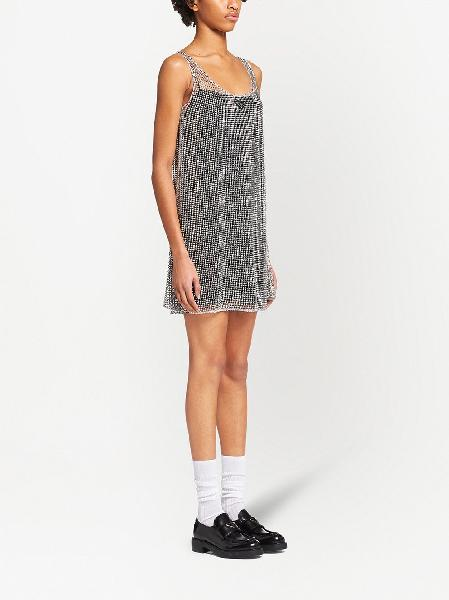 Prada rhinestone-embellished shift dress