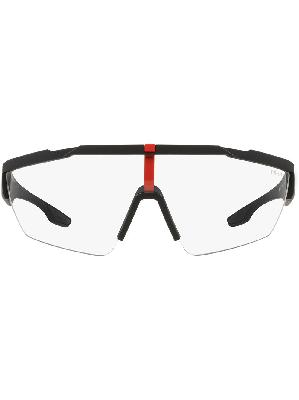 Prada Eyewear Linea Rossa mask sunglasses