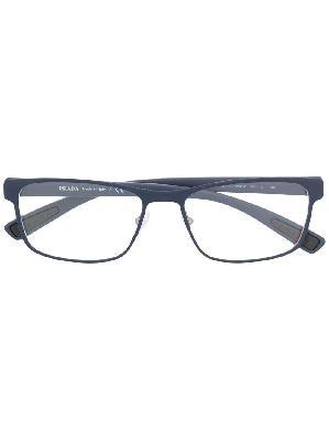 Prada Eyewear rectangle-frame logo trim glasses