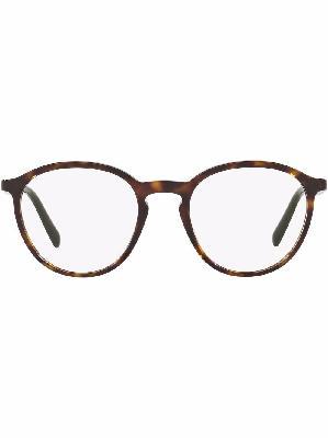 Prada Eyewear Conceptual tortoiseshell round glasses