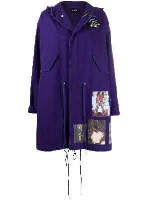 Raf Simons patch-detail parka coat