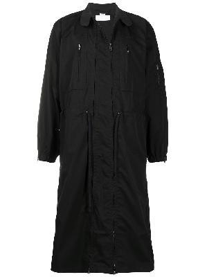 Random Identities drawstring double-zip coat