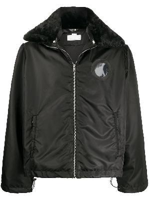 Random Identities faux-fur collar bomber jacket