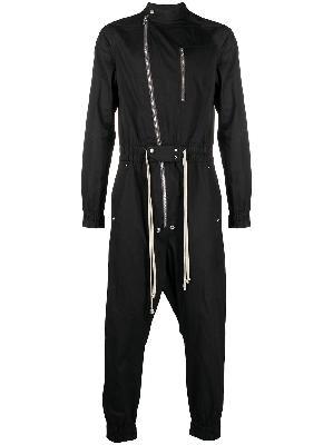 Rick Owens zip-embellished long-sleeve jumpsuit