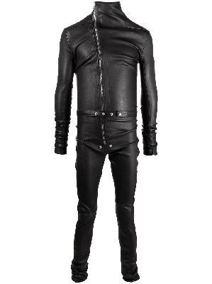 Rick Owens zipped leather jumpsuit
