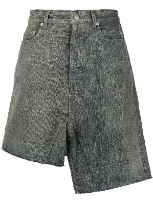 Rick Owens asymmetric denim skirt