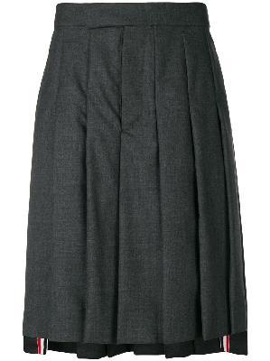 Thom Browne Classic-Rise Pleated Skirt