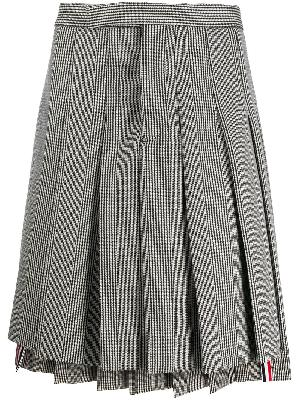 Thom Browne Prince of Wales check pleated skirt