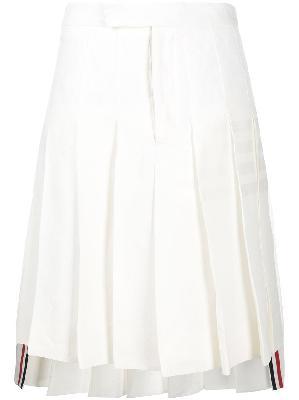 Thom Browne 4-bar knee-length pleated skirt